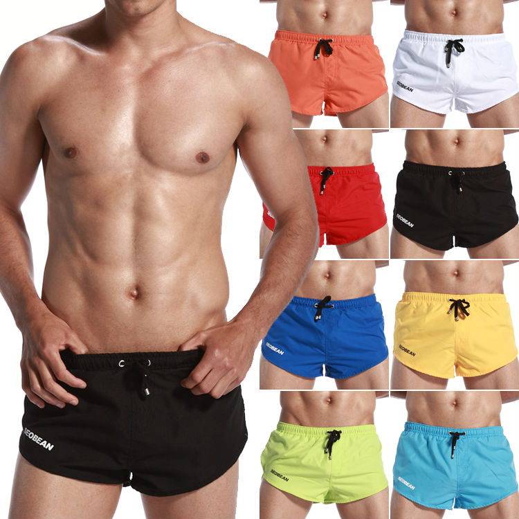 2015 Newest fashion Men's Board Shorts S-XL size loose Running Shorts swimwear trunks for men Yoga Boxers quick dry Beach Shorts(China (Mainland))