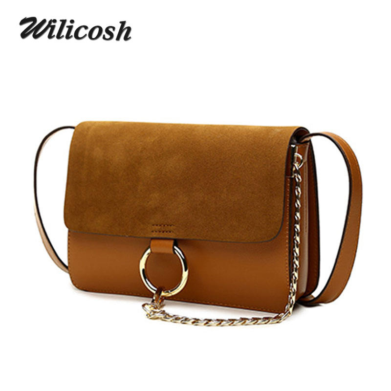 2016 Summer Style Genuine Leather Handbags Chain Ring Shoulder Crossbody Bags For Women Brand Messenger Bag Ladies Clutch DB5230(China (Mainland))