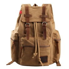 2016 Vintage Canvas Backpacks for Teenger Girls Fashion Women Backpack Men School Laptop Shoulder Bags Outdoor