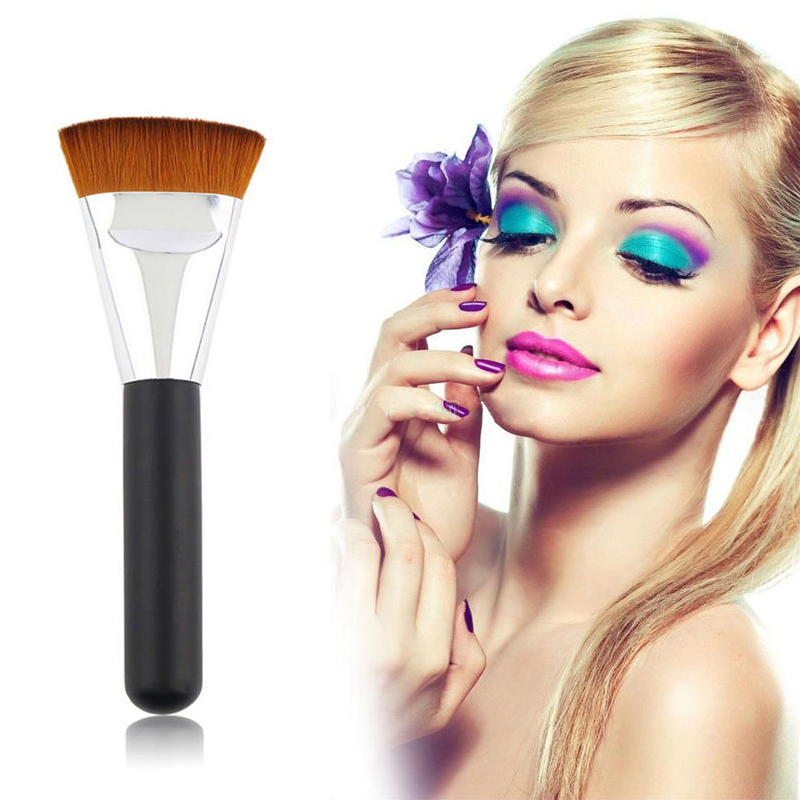 Hot Sale 2016 NEW Fashion 1 Pieces Beauty Woman's Pro 163 Flat Contour Brush Big Face Blend Makeup Brush(China (Mainland))