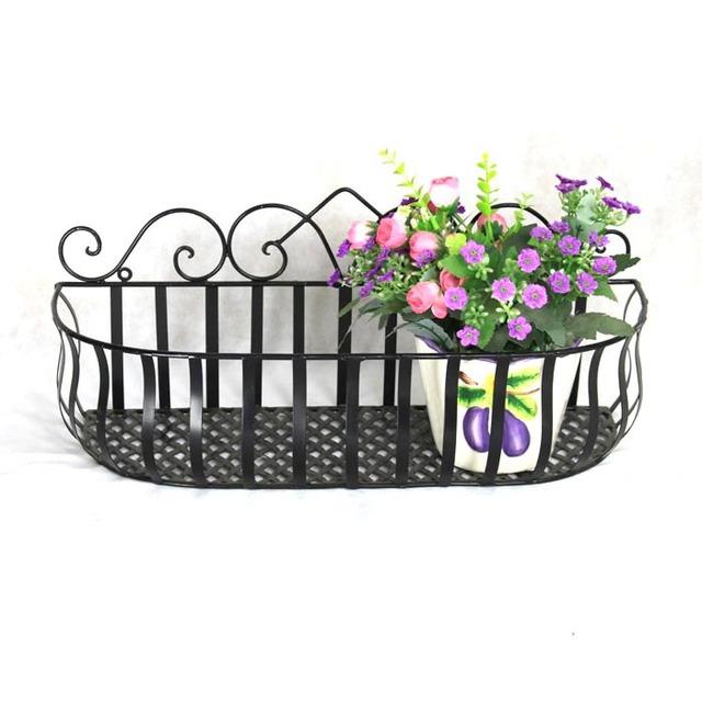 Free shipping cosmetics European style  iron flower stand balcony indoor flower pot holder hanging basket rack