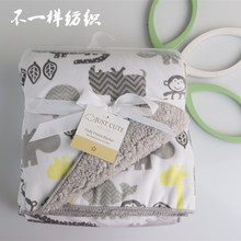 Baby blankets autumn and winter thicken double layer coral fleece infant bebe envelope wrap newborn baby swaddle(China (Mainland))