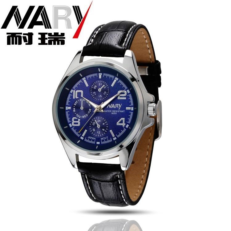NARY Часы мужчины люксовый бренд Бизнес Часы кварцевые Часы спорт мужчины полный стали наручные часы Случайные часы relógio masculino 2016