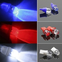 Buy 10pcs T10 LED Car Auto Wedge Light Side Dashboard Number Plate Lamp Bulb 12V RGB 88 CSL2017 for $1.21 in AliExpress store