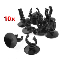 Boutique  10 pcs Black Suction Cup Holder 20mm Dia Tube AirlIne For Aquarium(China (Mainland))