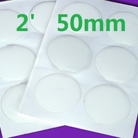 2 inch big sizes circle epoxy dome stickers dots for necklace or bottle caps DIY jewelry 3D dome
