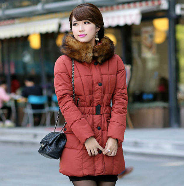 Hot Sale Outerwear Slim Winter Jacket Women Warm Down Parkas Comfortable Winter Coat Women White Duck Down 90% Large fur collar(China (Mainland))
