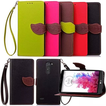 Leaf Clasp flip Leather Case for lg g3 stylus d690 Card Holder Wallet Case Cover for lg g3 stylus Case phone Coque fundas Capa