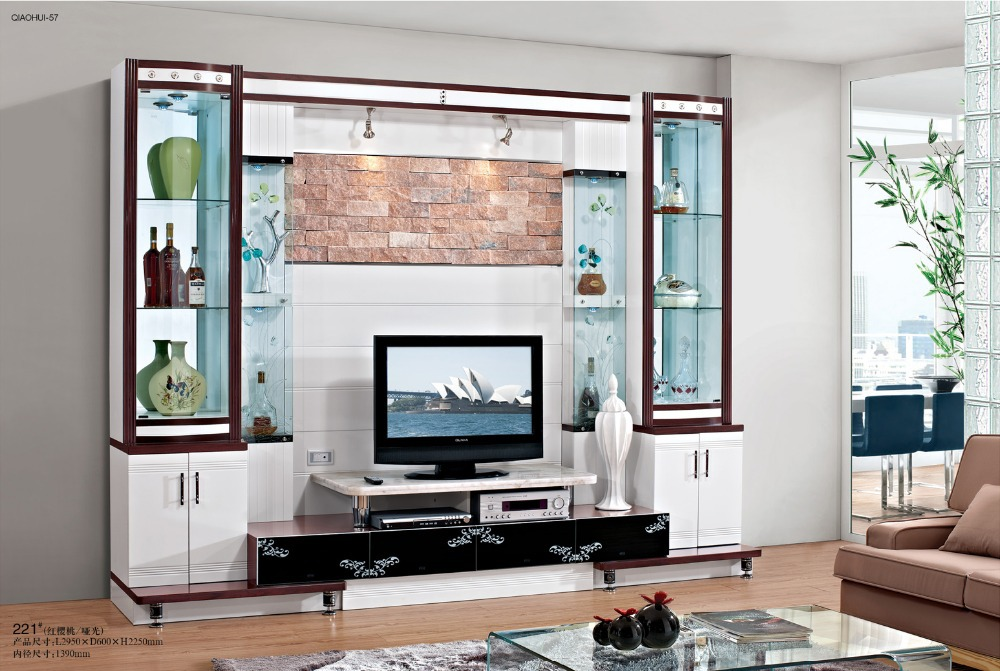 picture about white high gloss mdf tv stand living room furniture