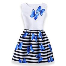 Популярное платье Эльзы для девочек; платья для девочек; платье для подростков; праздничное платье принцессы Анны и Эльзы с бабочками; Vestidos; ...(China)