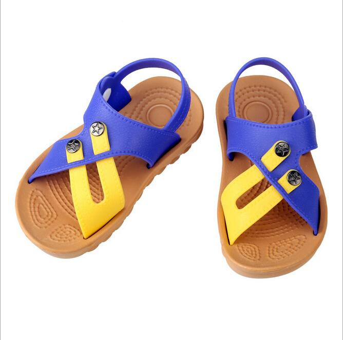 Size 21-29 Boys Sandals New 2016 Summer Boys Shoes Summer Kids Shoes Children slip-resistant wear-resistant Leather Shoes(China (Mainland))