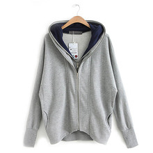 Autumn Leisure Jackets Woman Plus Size XXXXXL Outwear Women Hoodies Coat Casual Dual zipper Long cardigan