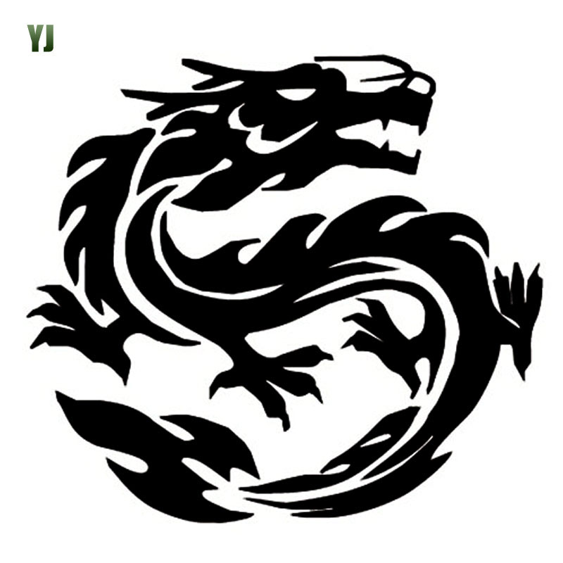 14*12CM Waterproof DRAGON Totem Car Sticker Decal Sticker Body Stickers Dragon Pattern Black/White CT-606<br><br>Aliexpress