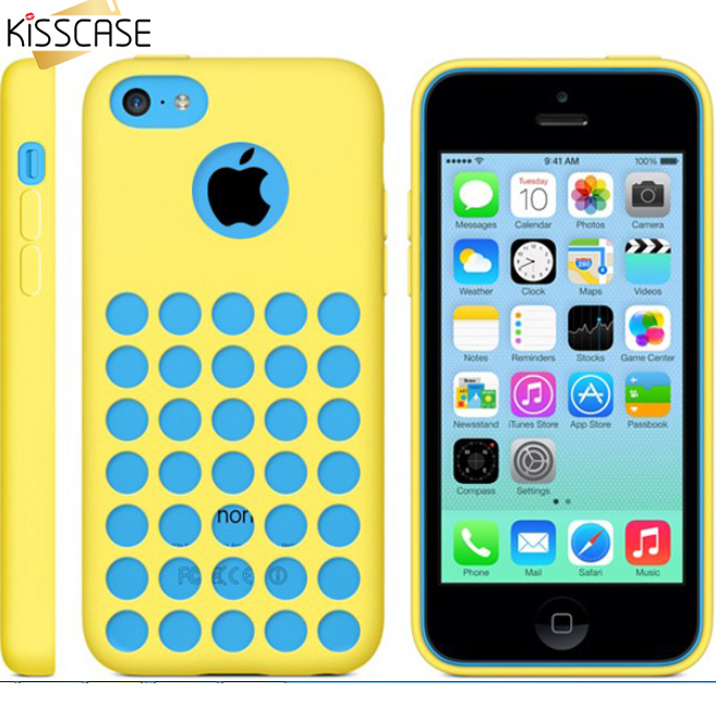 KISSCASE 5C Capa Fresh Colorful TPU Case For iPhone 5C Case Soft Flexible Original Back Shell Cellphone Cover Case For iPhone 5C(China (Mainland))