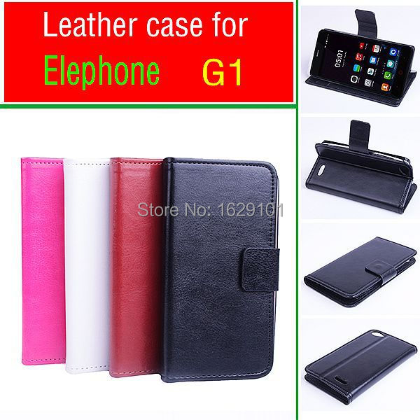 Best Deluxe Magnetic Original Elephone G1 Case Luxury PU Leather Flip Stand Cover For Elephone G1 Phone Shell With Card Slot(China (Mainland))