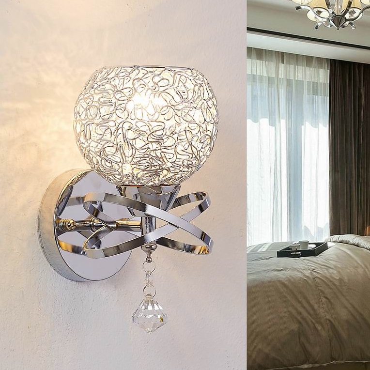 Modern style Wall Lamps bedside lamp Bedroom Stair lamp Crystal wall Lights e27 Led single gold ...