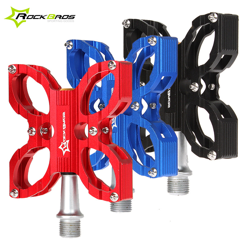 RockBros Ultra-light 3 Colors Moutain Bike Pedal Butterfly Ride 2 Bearing Fixed Gear Road Bike Pedals Shark Tooth Bicycle Parts(China (Mainland))