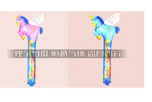 Mixed colors flying horse bangbang cheer stick balloon inflatable figures