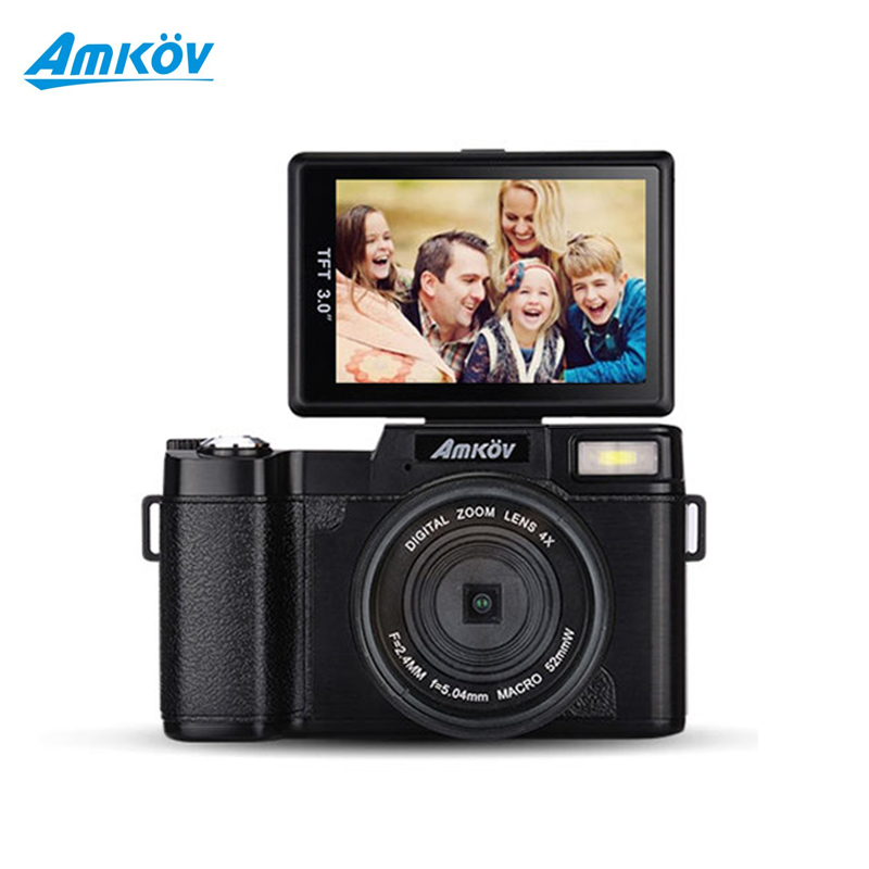 AMKOV AMKR2 Digital SLR Camera With Wide-angle Lens Camcorder 8.0MP CMOS Max 24MP 3 inch Rotatable Screen Camera(China (Mainland))