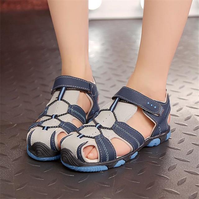 Оптовые Летние дети нубука кожаная обувь удобная быстрая Высокое качество сандалии ...