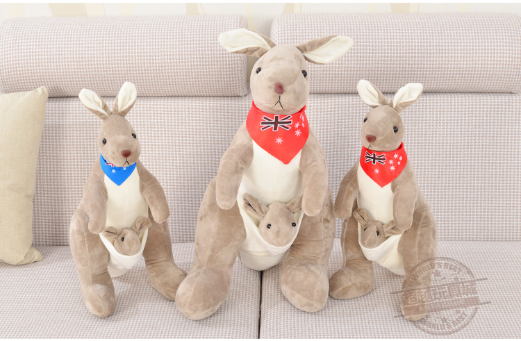 Kangaroo Toy Doll Lovely Cartoon Plush Soft Cotton Gift Toy Birthday Gift Free Shipping CY-DS(China (Mainland))