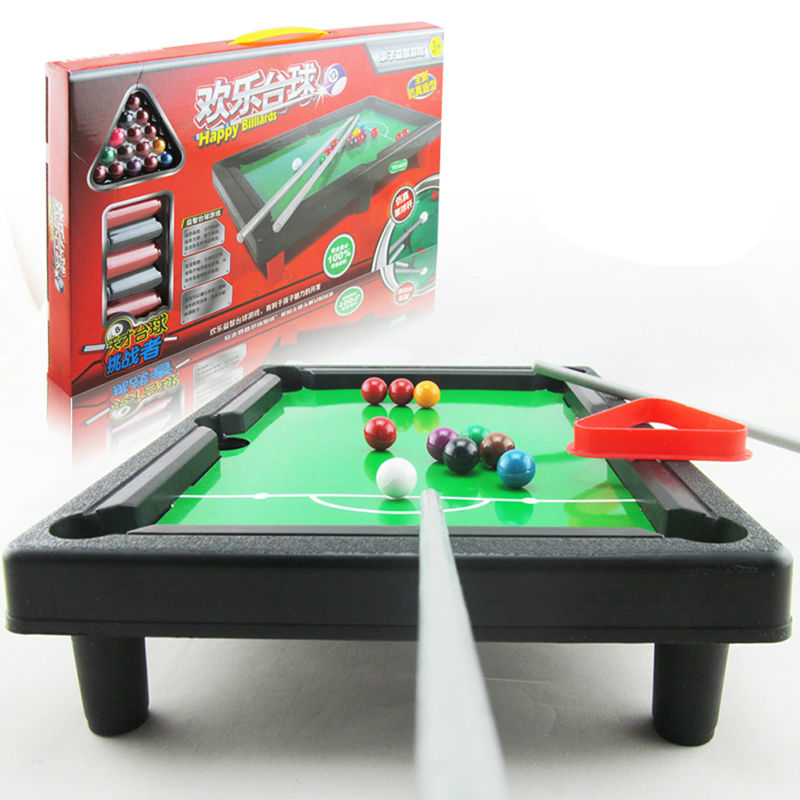 1Pcs Mini Pool Table Game Toy Kids Table Top With Accessories Board Games Gift K5BO(China (Mainland))