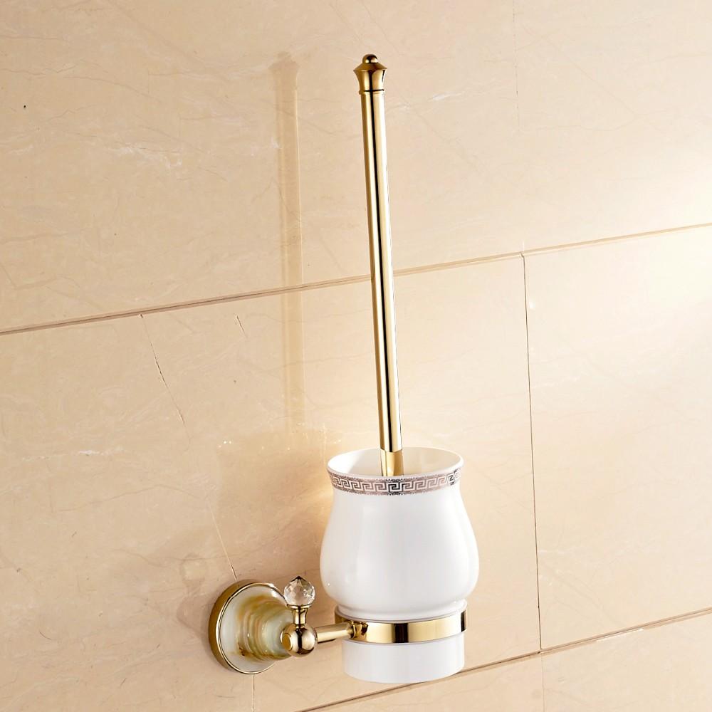 Купить Роскошный Золотой Туалетной Щетки Чашки Щетки Золотой Латуни Держатель Настенный