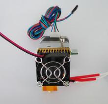 2015 прямые продажи бросился серебряный 12 / 24 В вентилятор 3d головка принтера Makerbot один Exturder Mk8 экструдер бесплатная доставка