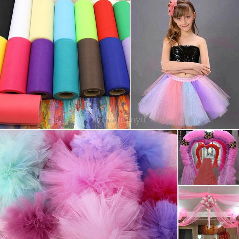 Fashion 22mX15cm Colorful Tissue Tulle Roll Spool Craft Wedding Party Decoration Organza Sheer Gauze Element Table Runner 5SH759(China (Mainland))