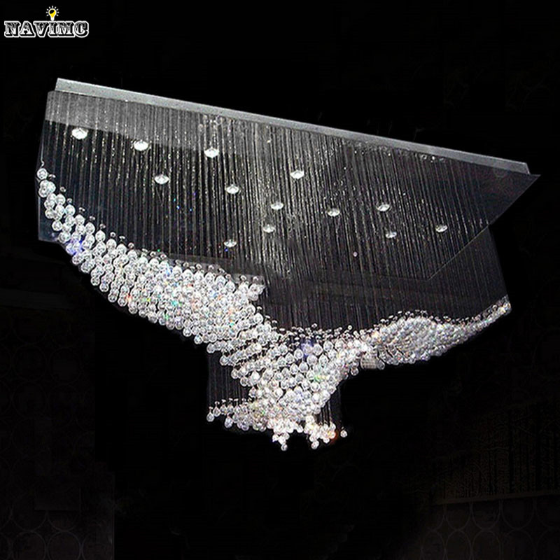 New eagles design luxury modern crystal chandelier - Imagenes lamparas de techo ...
