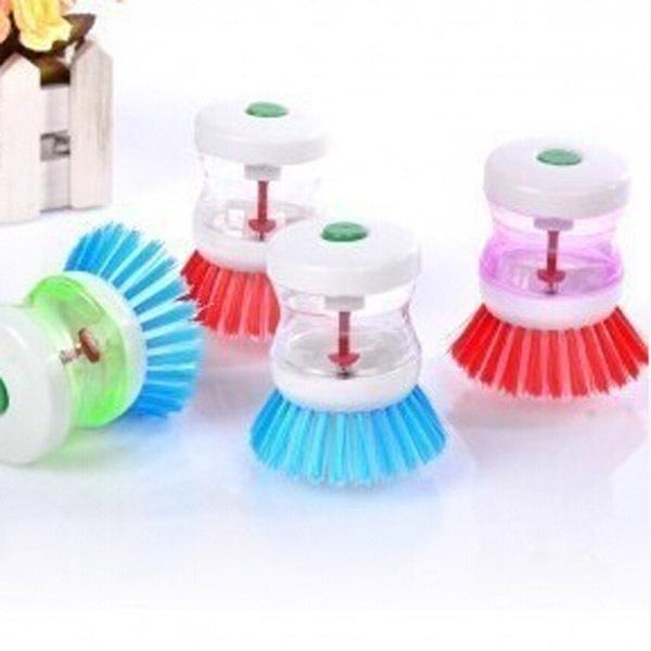 5pcs Kitchen helper hydraulic cleaning brush pot stick oil cleaner Dishwashing Liquid Brush Scrubbing Household Cleaning Tools(China (Mainland))