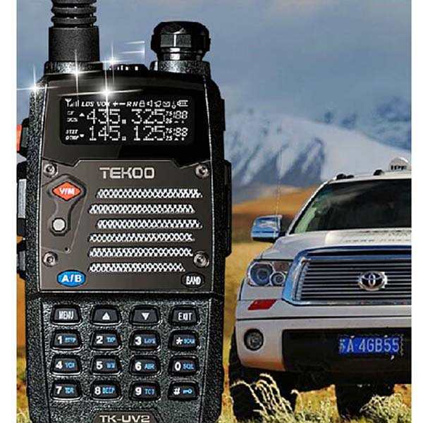 New Unicom TK-UV2 8W wireless Walkie Talkie Two Way Radio Handheld Portable Interphone Dual-Band Display Standby VHF UHF LCD(China (Mainland))