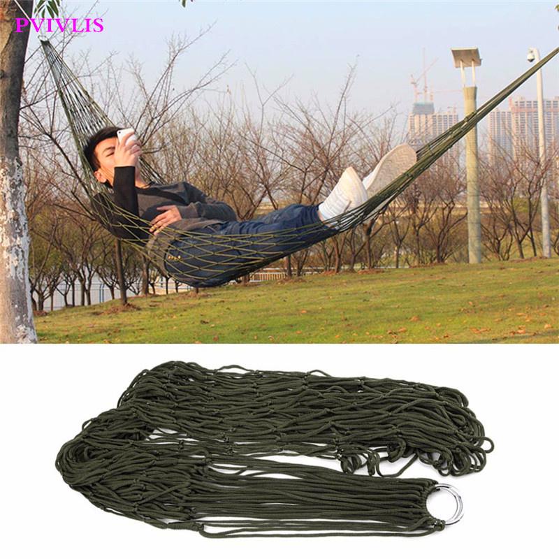 PVIVLIS 1pcs 2016 New Arrival Garden Outdoor Hammock Sleeping Bed Portable Travel Camping Nylon Hang Mesh Net Worldwide(China (Mainland))
