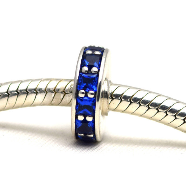 Осень стиль серебряные ювелирные изделия 925 вечность спейсерной бусины Fit пандора оригинальный подвески браслеты DIY ювелирных украшений