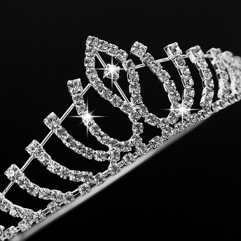 Jingling Elegant Luxurious Hair Tiaras Wedding Bride Glass Crown Headwear Rhinestone Hairpin Hairbands Bride Jewelry N047 Z15(China (Mainland))