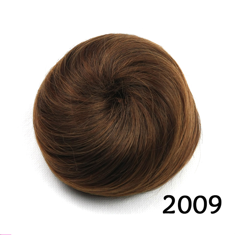 synthetic hair scrunchies, hair bun chignon, chignon with natural hair, color 2009(China (Mainland))