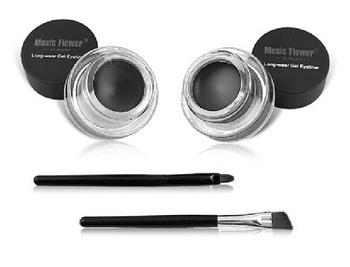 2 in 1 brown + black gel eyeliner make up free shipping waterproof freeshipping cosmetics set eye liner makeup eye