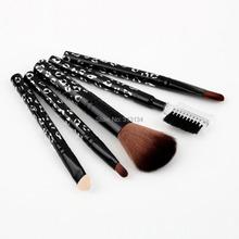 2015 HOT NEW 5Pcs Makeup Eyeshadow Leopard Brushes Lipstick Cosmetic Brushes Set Tool