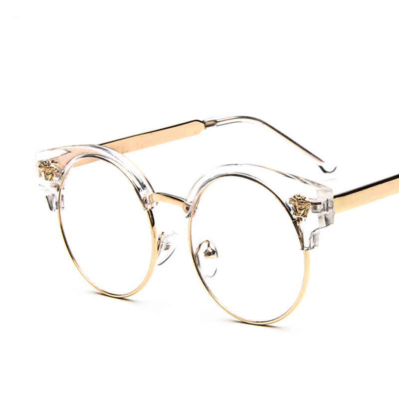 vintage brand designer cat eye glasses frame men women glasses clear lens eyeglasses frame women oculos