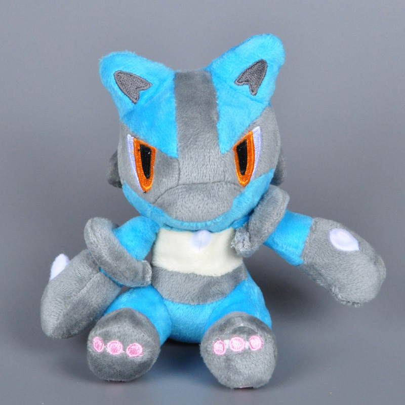 Pokemon Plush Toy Lucario plush Dolls Toys Soft Stuffed Cartoon Animal Doll Great Gift For Children 14cm High quality hot toys(China (Mainland))