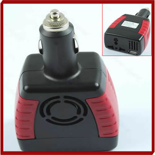 W110Free Shipping 150W Car Power Inverter Charger Adapter 12V DC To 110/220V AC+USB 5V New Arrive(China (Mainland))