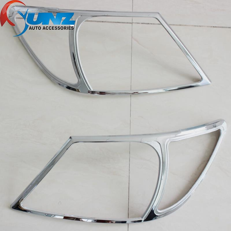 chrome toyota hilux accessories headlight cover trim fit toyota hilux vigo 2005 2006 2007 2008 2009 2010 front lamp hood(China (Mainland))