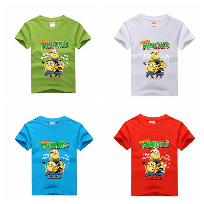 1PCS New 2015 despicable me 2 Minion Boys t shirt Girls Nova T-shirts Anime Figure Minion Clothes Casual Sports Tees 8 Colors<br><br>Aliexpress