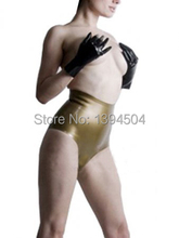 2015 Crotchless Panties Cock Sock Sexy Latex Underwear Women Fetish Under Pants High Waist Online Sale Free Shipping Lingerie