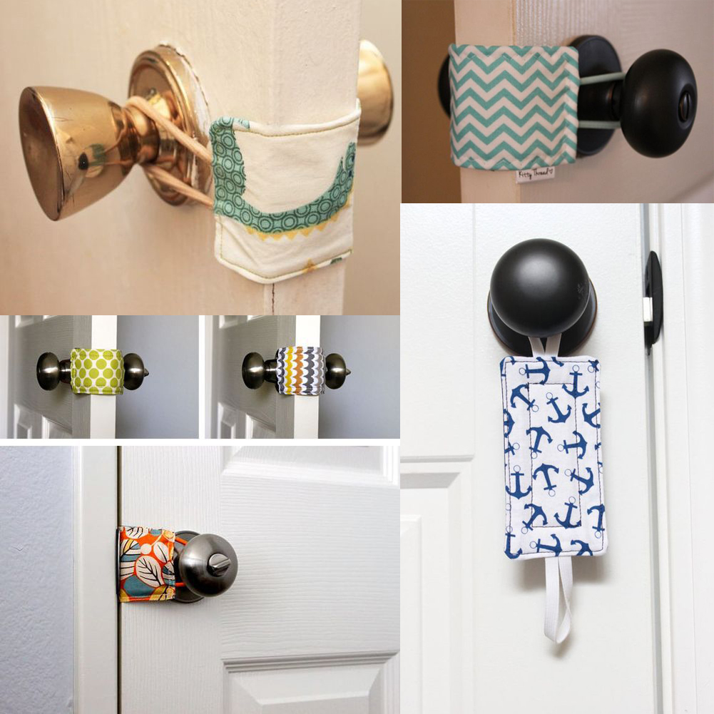 Wholesale- Baby Safety Keep Quiet Cushy Closer Door Latch Cover Cushion Cotton Door Close Kids Protector Pad : quiet door closer - Pezcame.Com