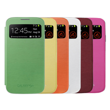 Original S View Cover Flip Case Window For Samsung Galaxy S4 i9500 i9505 S IV EF-CI950(China (Mainland))