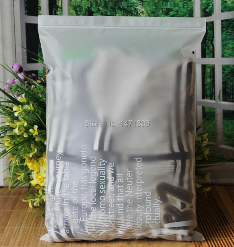 30*40cm 16C gifts packing frosted slider plastic bag t shirt packaging(China (Mainland))