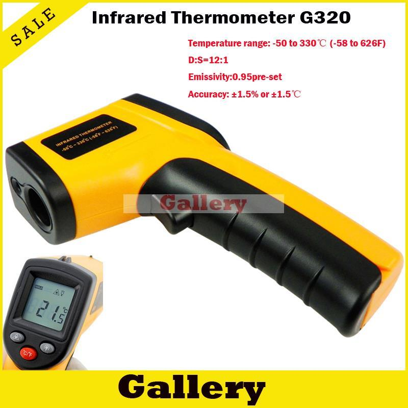 Electronic Thermometer Non Contact Lcd Ir Laser Infrared Digital Temperature Gun Point Gm320 50 330 C Retail Package(China (Mainland))