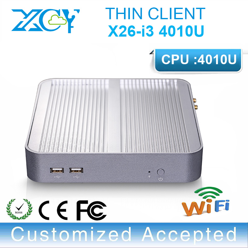 Hot sale! X26-i3 4010u dual-core pc emebedded fanless pc mini pc linux computer support full screen movies hard disk option(China (Mainland))