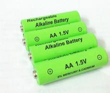 New 2015 Hot Sell 4pcs lot 3000mAh1 5v aa battery Alkaline rechargeable battery for Flashlight led